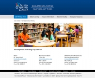 <p>Web Design and Development for ACC's Developmental Writing Department </p>