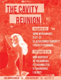<p>Poster Design for the Cavity Club Reunion Show</p>