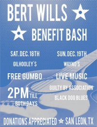 <p>Poster Design for Blues Legend, Bert Wills, and his Benefit Show</p>
