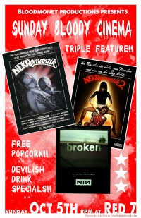 <p>Poster for local film event for Blood Money Productions.</p>