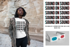 """<p>T-Shirt design submission for the first annual Sound on Sound fest. Design concept inspired by the vibrating effect of 3D movies sans glasses. <a href=""""https://www.flickr.com/photos/xenmate/6673633381"""">3D glasses photo by xenmate</a></p>"""