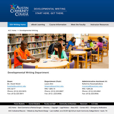 Web Design for Austin Community College