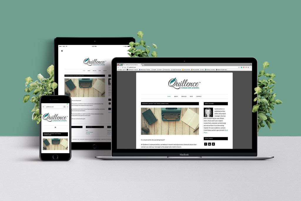 Web Design and Development for Quillence Communications Austin, Texas